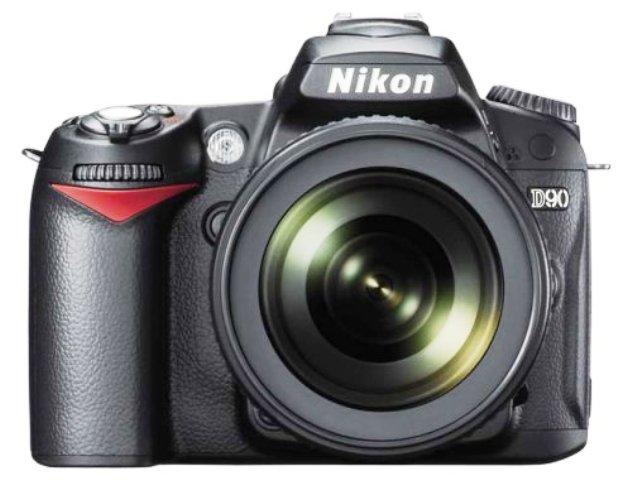 Nikon D90 Vorderansicht