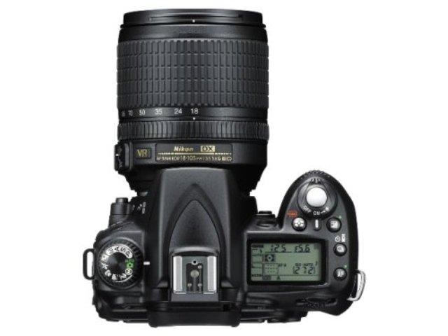 Nikon D90 von oben